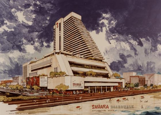 Rendering of the proposed Sahara Atlantic City resort
