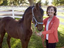 Elaine Galatz outside of her Las Vegas ranch.