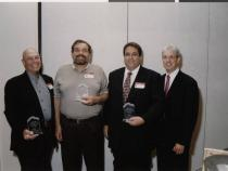 Neil Galatz (far left) and others at Jewish Federation event, 2000-2001