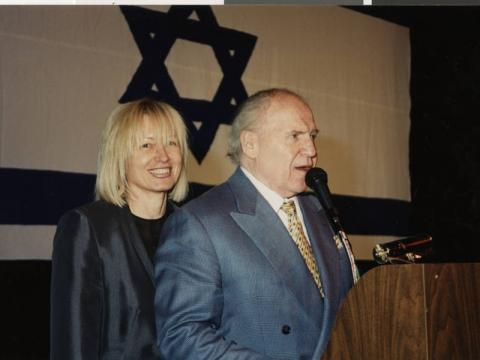 Dr. Miriam and Sheldon Adelson at Israel @ 50 event, 1998