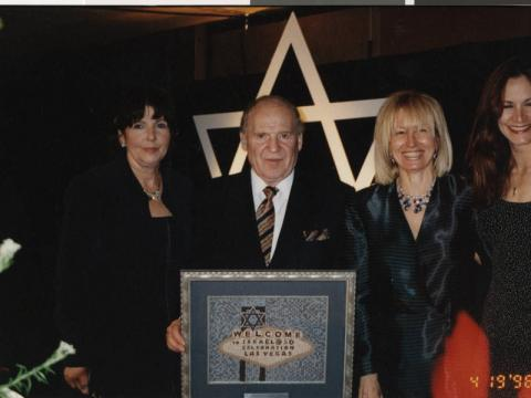 Dr. Miriam and Sheldon Adelson at a Jewish Federation event, April 19, 1998