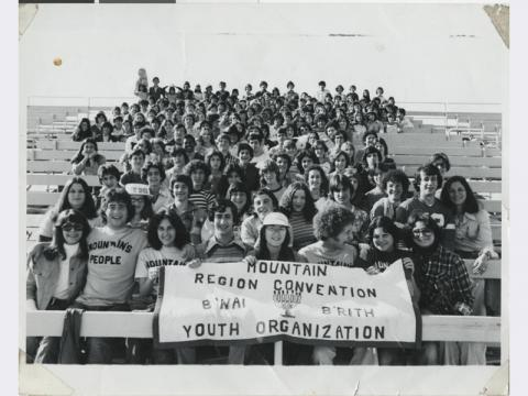 Photograph of Mountain Region Convention of B'nai B'rith Youth Organization, circa 1977