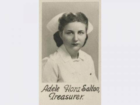 Photograph of Adele Flora Salton from the Sinai Hospital School of Nursing, Baltimore, Maryland, 1947