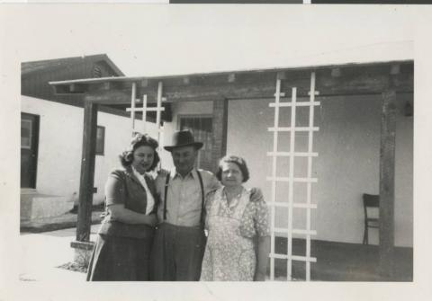 Photograph of Al Salton (center) with family, before 1944