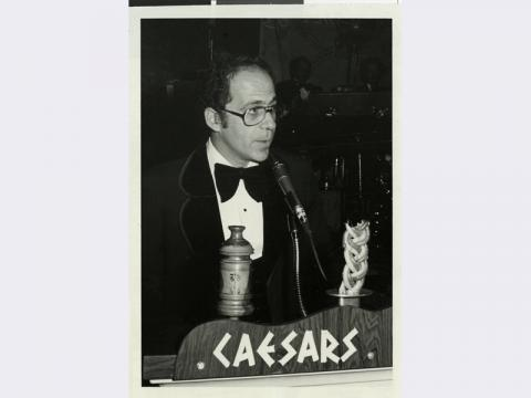 Photograph of Dennis Sabbath speaking at Caesars