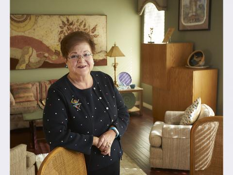 Ruth Urban in her home in Las Vegas, NV.