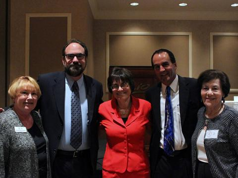 Barbara Raben (JFSA), Rabbi Akselrad, Esther Finder, Kevin Janison and Raymonde (Ray) Fiol (photo by Jordan Kyle Hoffman)