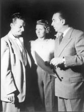 Portrait of Donn Arden, Margaret Kelly, and designer