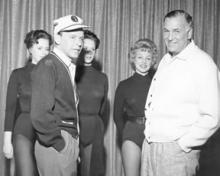 Frank Sinatra, Jack Entratter and Copa Girls during rehearsal