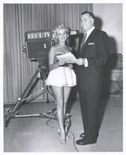 Jack Entratter and Copa Girl with KROD-TV news camera