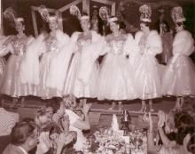 Copa Girls in Ziegfeld Follies show at Sands Hotel