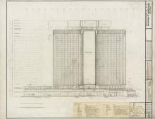 Architectural drawing, International Hotel, 1968