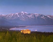 Harrah's Tahoe with view of Lake Tahoe, 1976