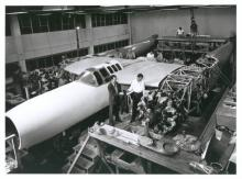 During construction of the D-2, the proto-type of the XF-11.
