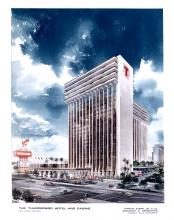 Thunderbird Hotel tower, early 1970s