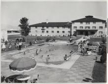 Thunderbird Hotel swimming pool, 1950s