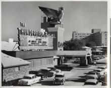 Front entrance of Thunderbird Hotel, 1950s