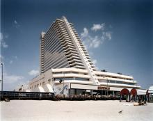 Showboat from beach, Atlantic City, 1987