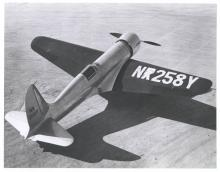 The H-1 racer (NX 258Y - X painted over earlier R designation).