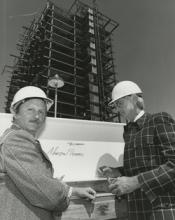 Martin Stern with Bill Harrah at the Harrah's Tahoe construction site