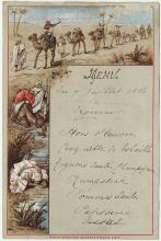 Unknown restaurant, menu, July 7, 1886
