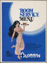 Aladdin Hotel and Casino, room service menu.
