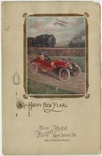 New Year's 1909, menu, Hotel Robidoux