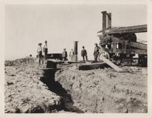 First artesian well in the Las Vegas Valley on the Taylor Ranch, before 1910