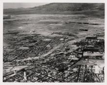 Aerial view of downtown Las Vegas
