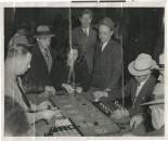 Photograph of people playing Faro game at Golden Nugget, circa 1930s