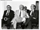 Jerry Mack with politicians, 1980s