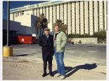 Morry and Stuart Mason in front of the Marina Hotel/Casino, Las Vegas, Nevada, circa 1990s