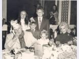 Jay Sarno with his wife and children, Caesars Palace, Las Vegas, Nevada, 1969