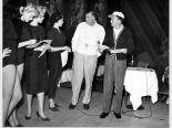 The Copa Girls rehearsing with Jack Entratter and Frank Sinatra, Las Vegas, 1954