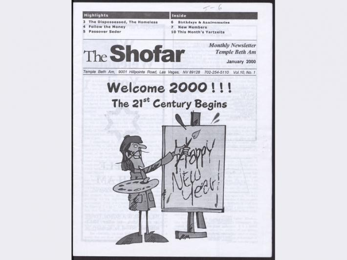 The Shofar newsletter of Temple Beth Am, January 2000
