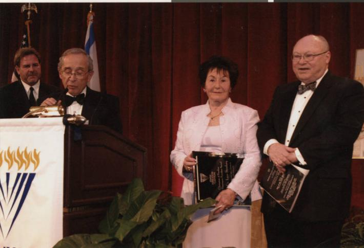 Faye and Dr. Leon Steinberg at the Freedom Dinner Gala, February 8, 2004