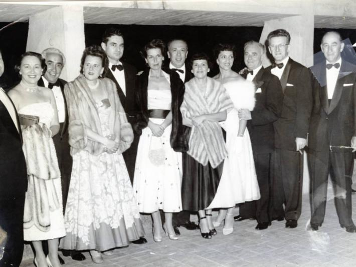 Group of prominent Las Vegans at a Variety Club event in Mexico City, Mexico circa mid-1950s (Davie Berman far right)